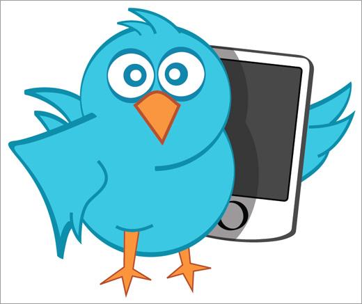 vector Twitter bird in eps format