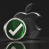 Apple Logo and Checkmark Symbol