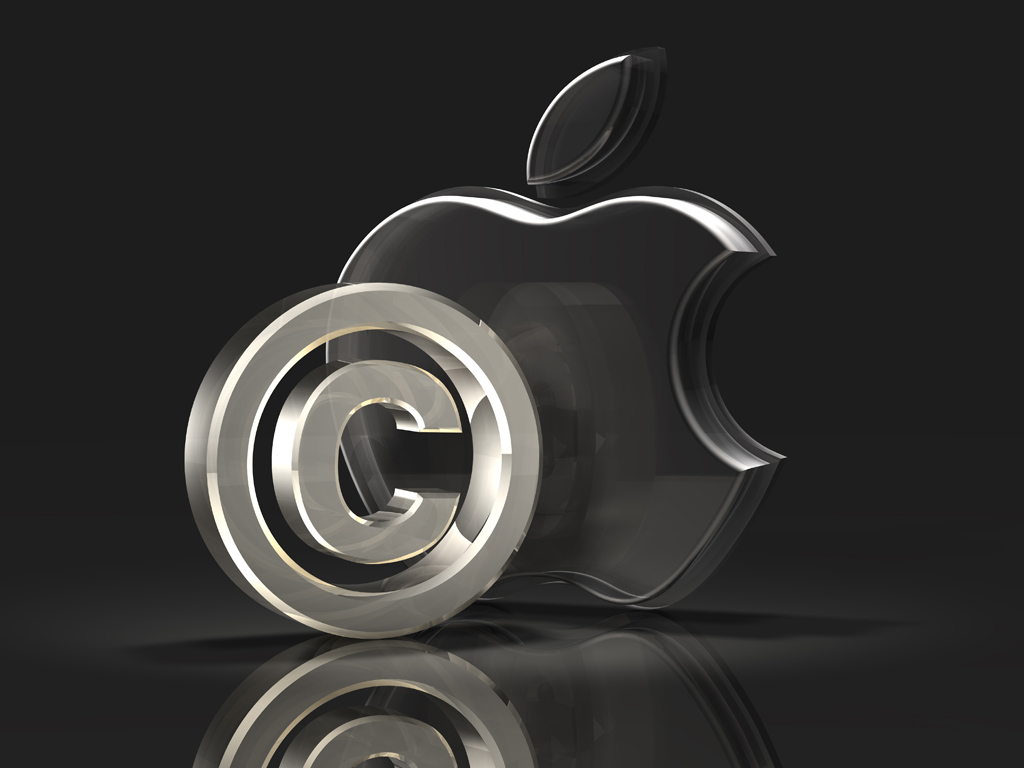 glass apple logo