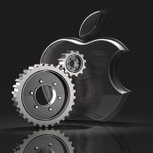 Apple Logo and Gears