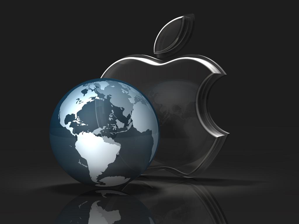 three dark glass apple logos – norebbo