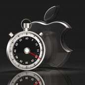 Apple Logo and Stopwatch