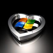 Microsoft Logo and Heart