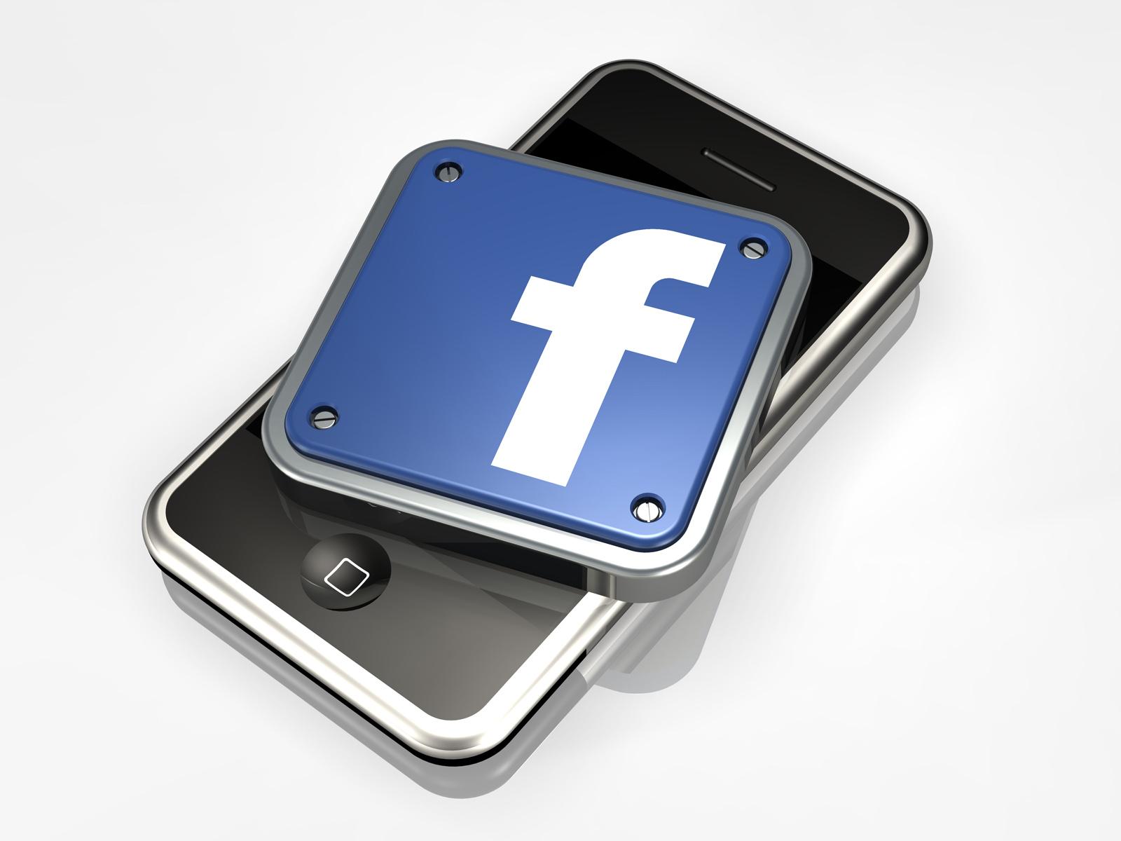 3d facebook logos