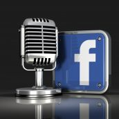 Microphone and Facebook Logo
