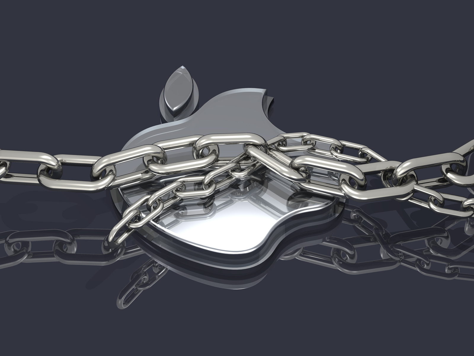 Chrome 3d Apple logos