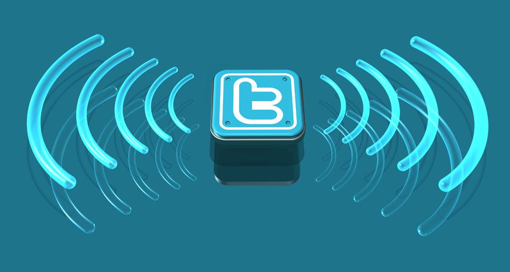 twitter logo 3d