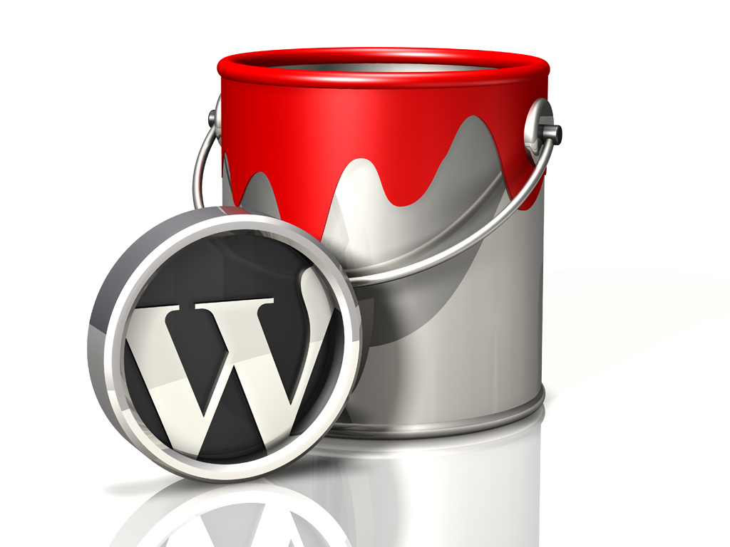 3d WordPress logos