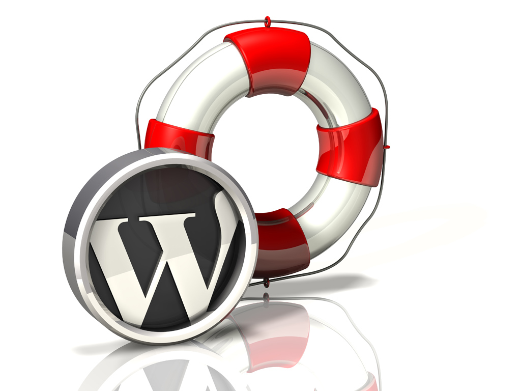 3d WordPress logos