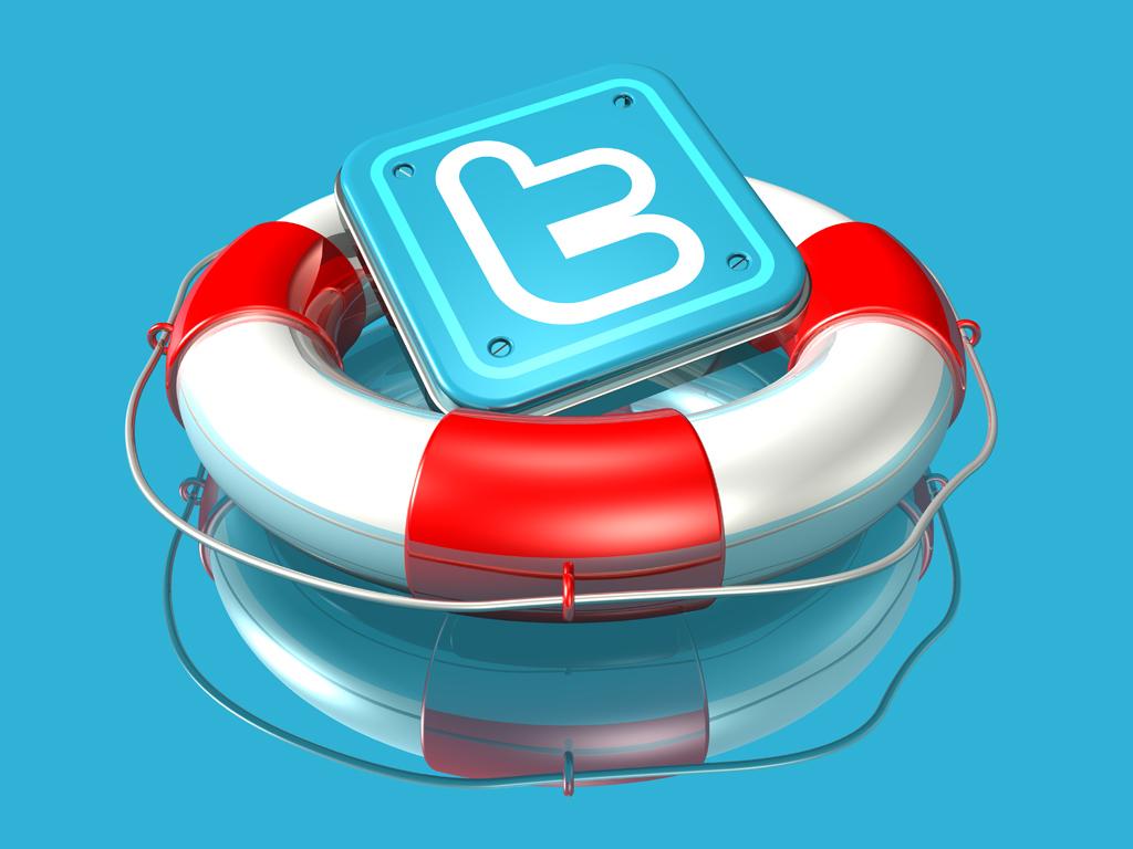3d twitter logos