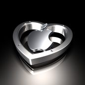 Apple Logo and Heart