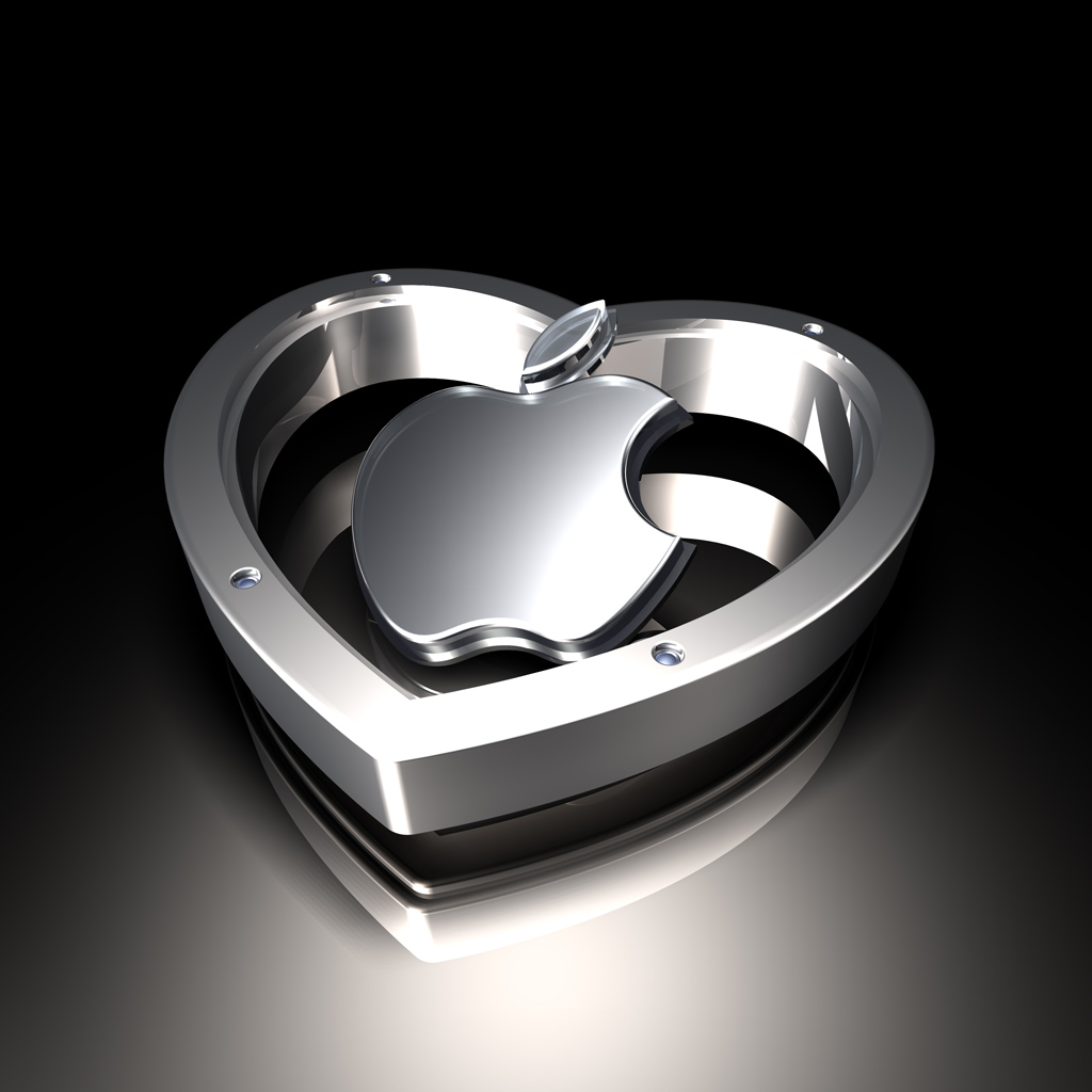 metal apple logos