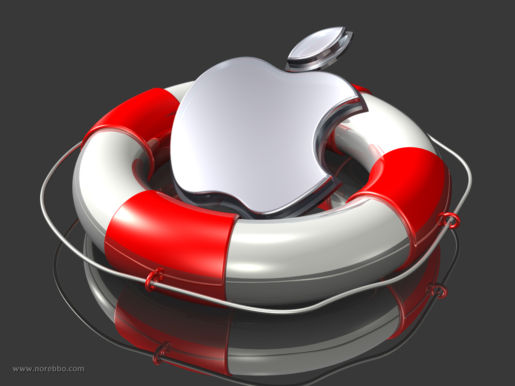 3d metal and glass apple logos