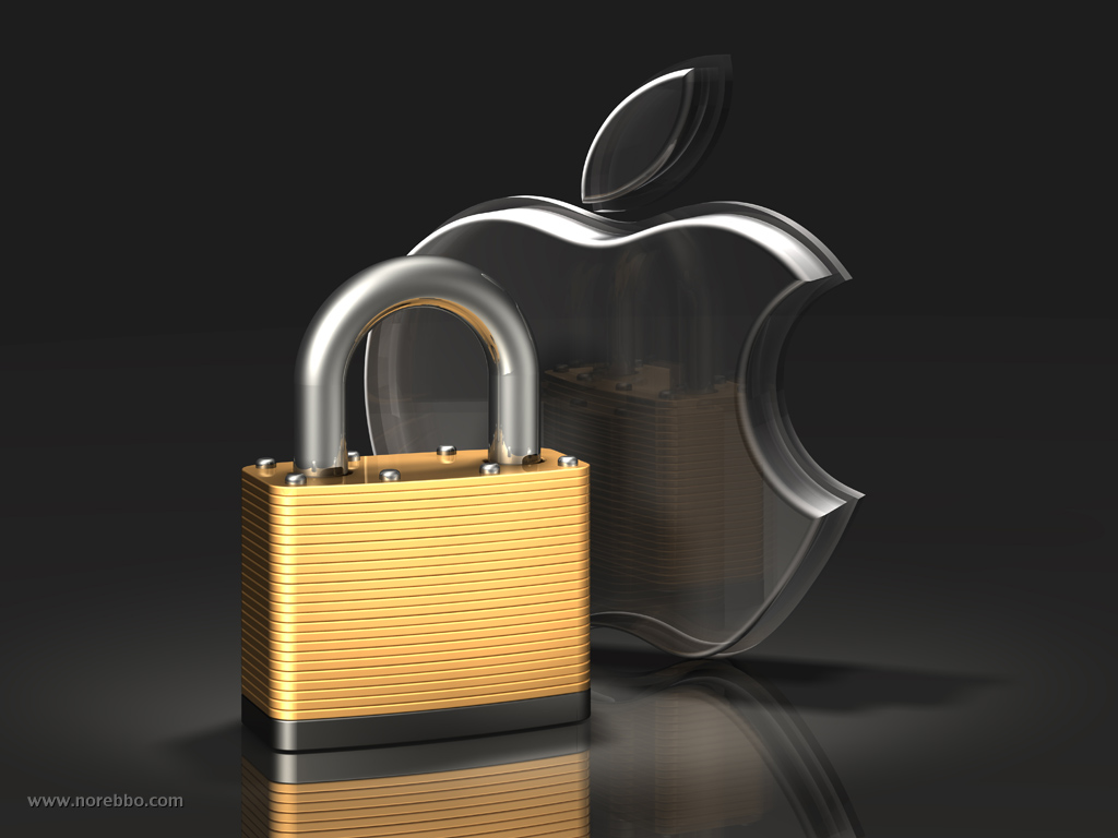3d metal and glass apple logos