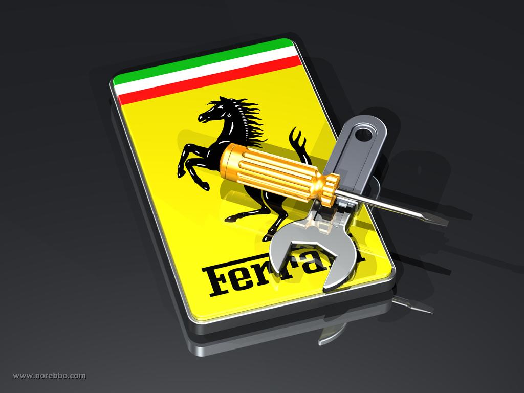 3d Ferrari logos