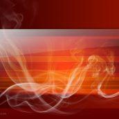 Glossy Red Smoke Background