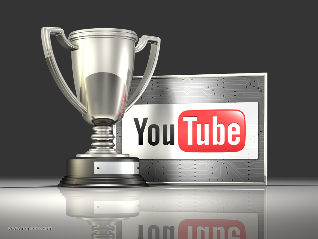 Six 3d Illustrations featuring the YouTube logo - Norebbo