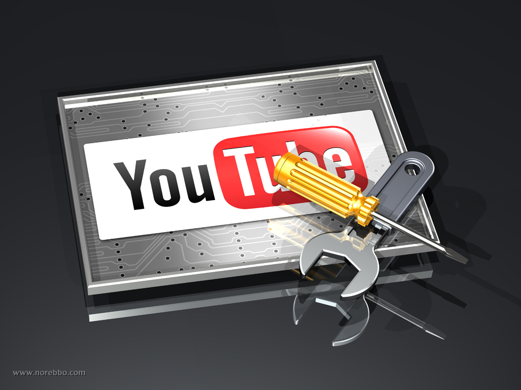 3d youtube logo icon