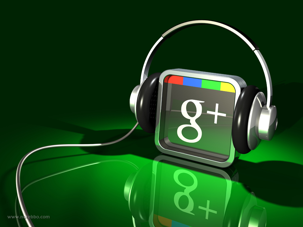 3d google plus icons