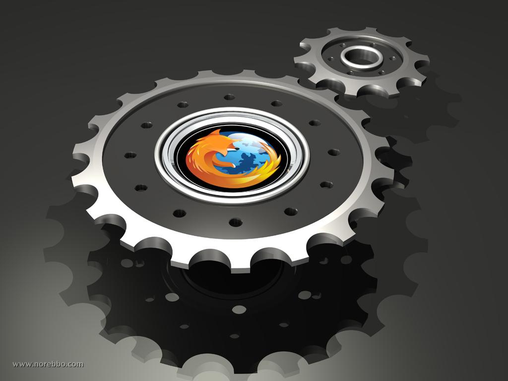 3d firefox logo