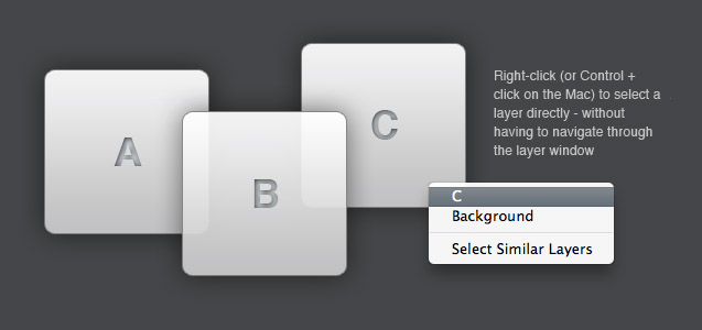 Direct selection of layers