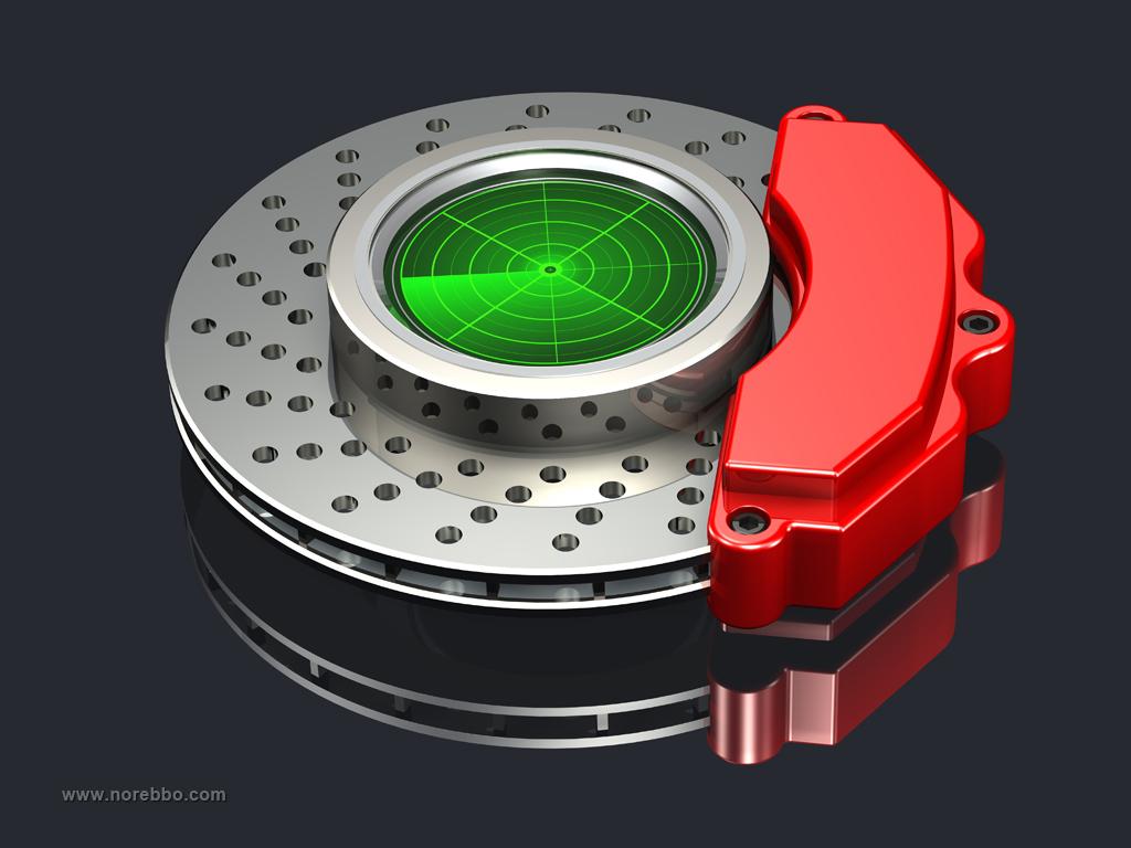 disc brakes 3d rendering