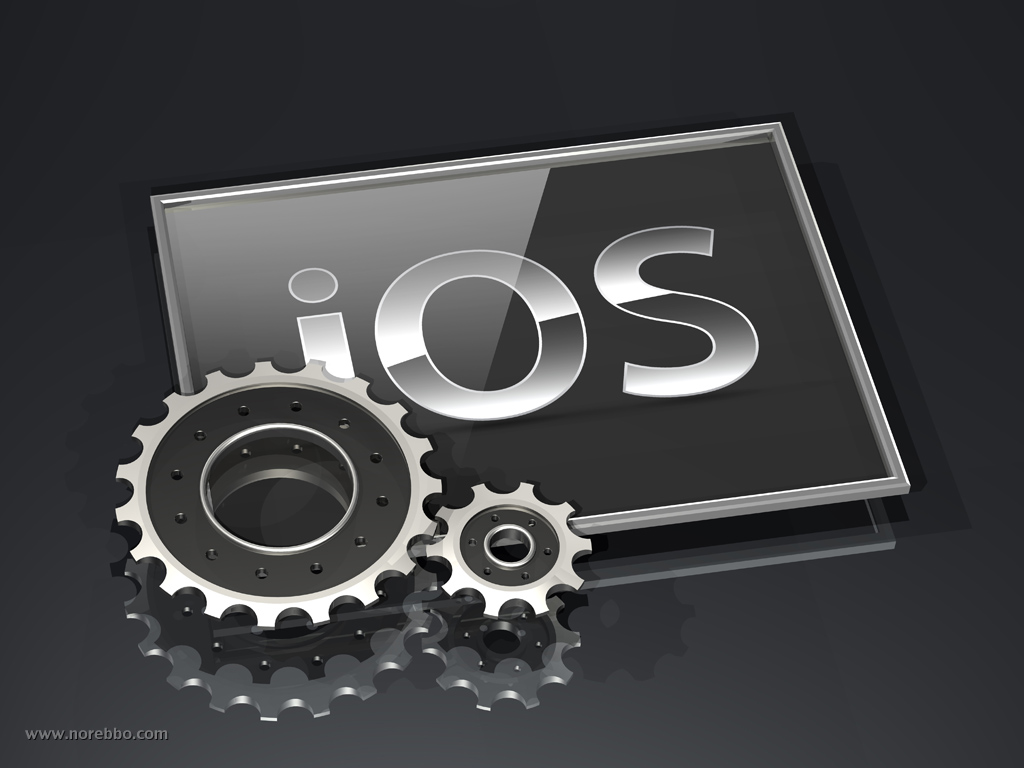 3d apple iOS logo