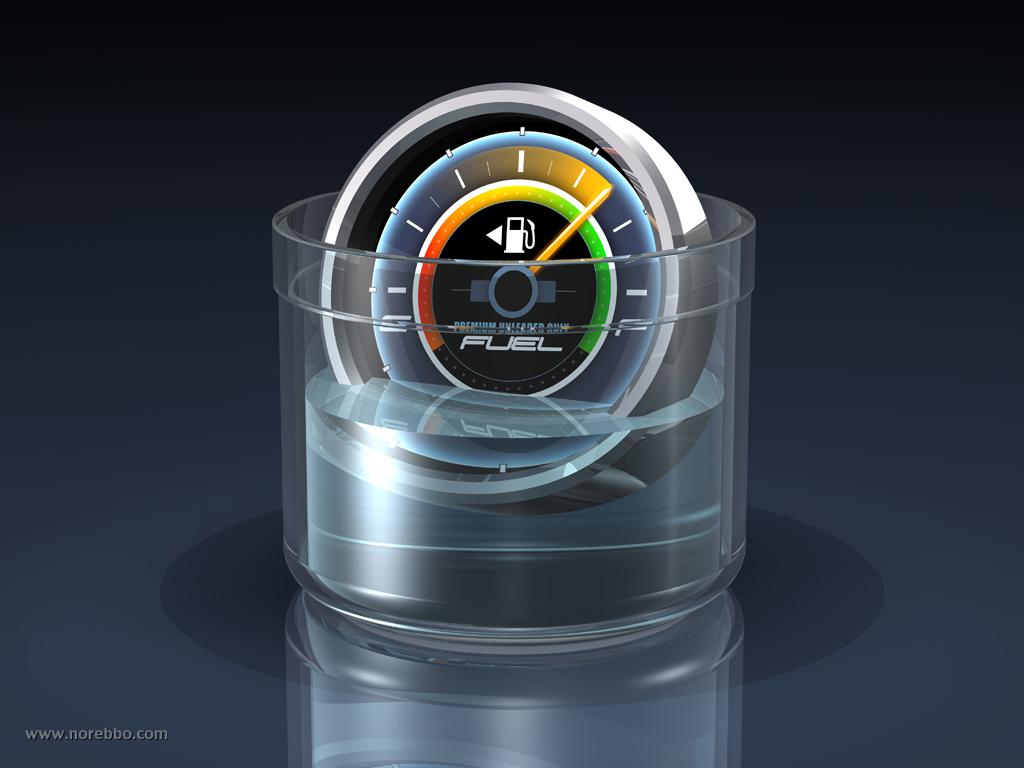 3d fuel gauge concept