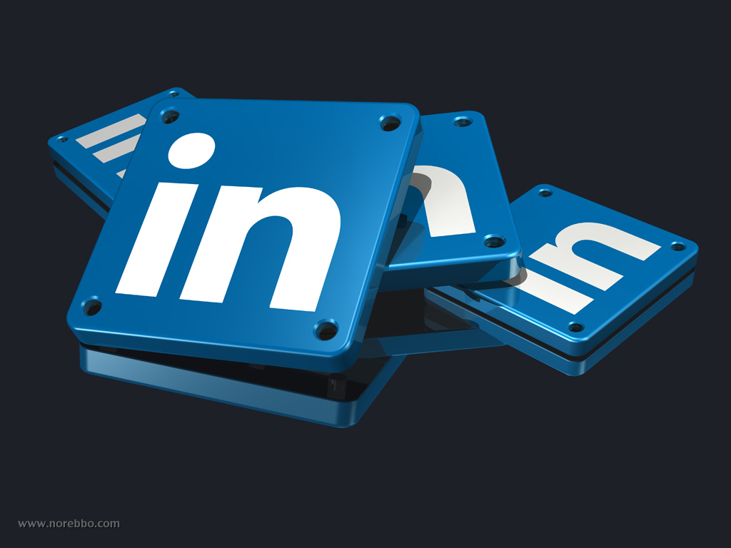 a collection 3d renderings featuring the linkedin logo – norebbo