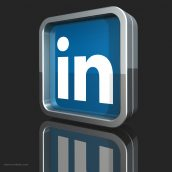 Silver and Blue LinkedIn Logo