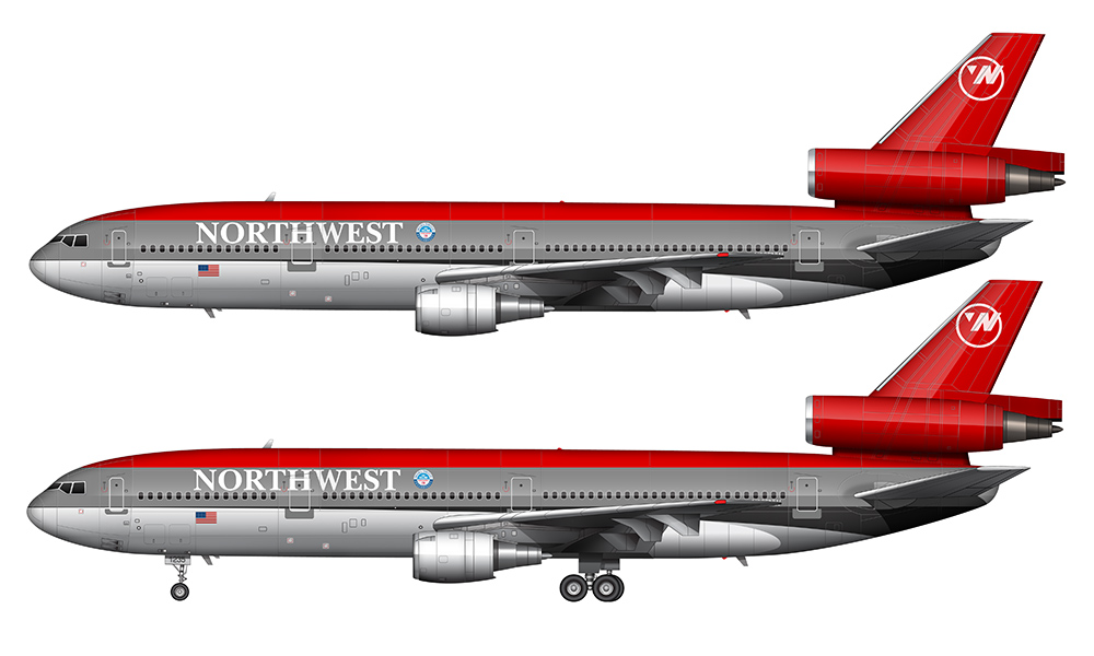 NW DC-10 drawing