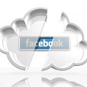 Facebook Logo in a White Cloud