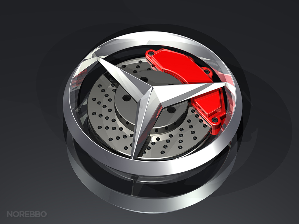 Mercedes benz brakes norebbo for Mercedes benz brake calipers
