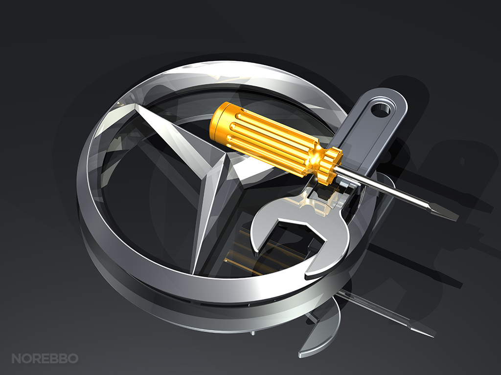 Mercedes benz logo illustrations norebbo for Mercedes benz maintenance schedule