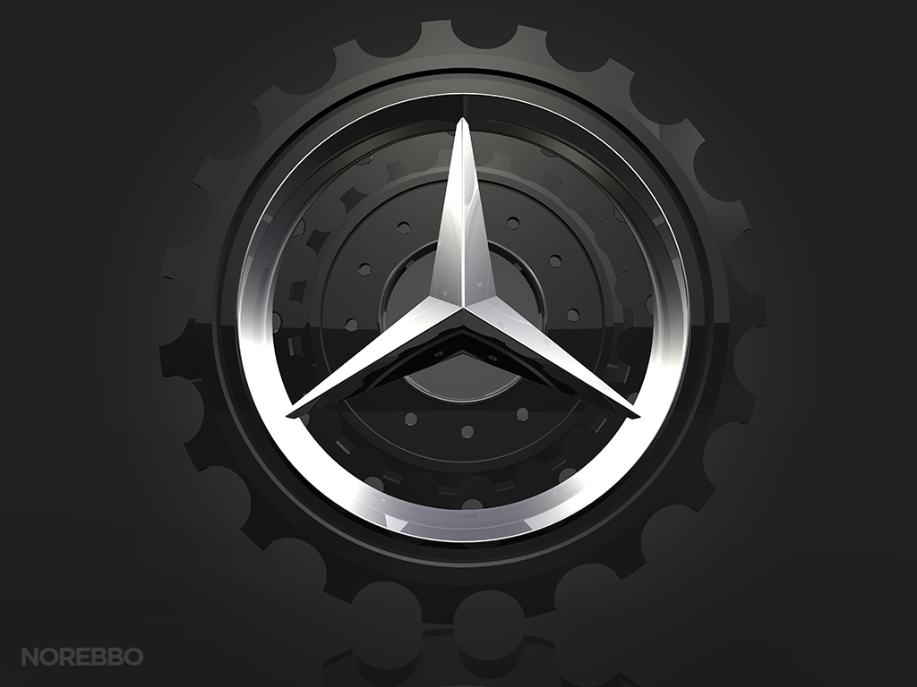 Mercedes Benz Logo Illustrations Norebbo