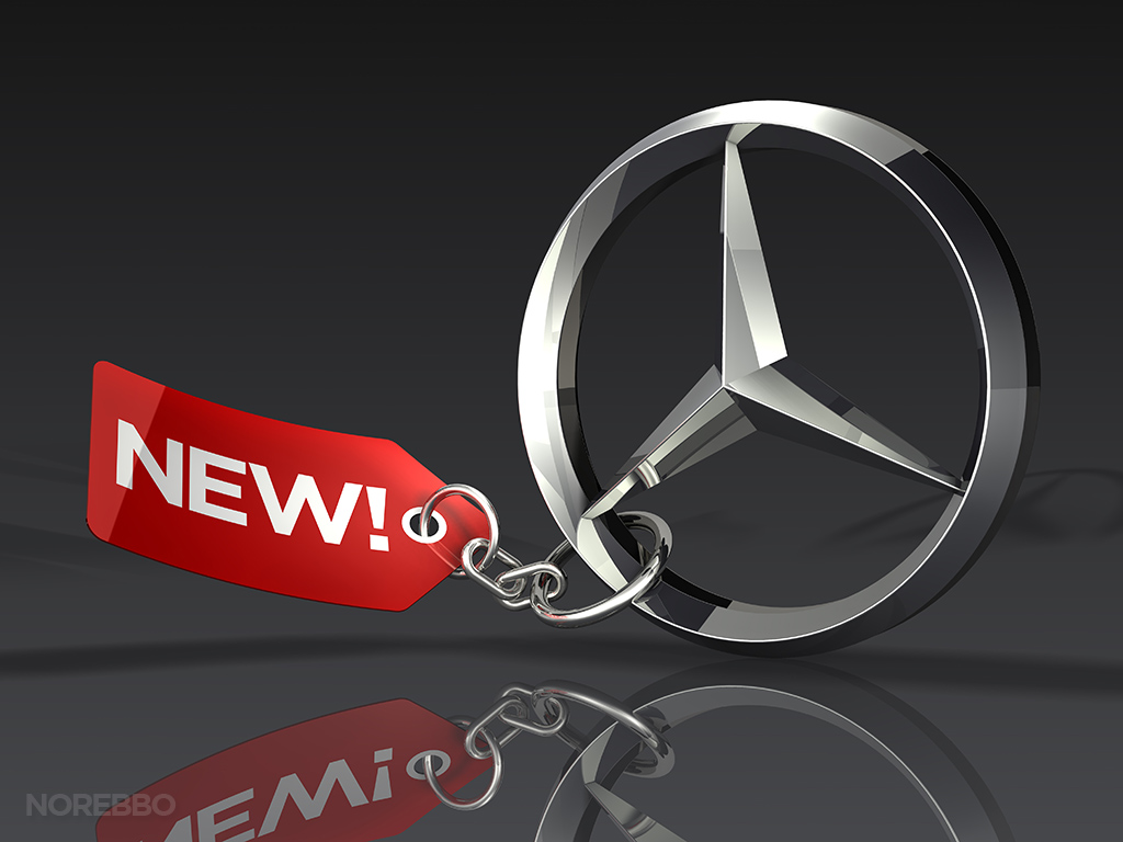 3d Mercedes Benz logo