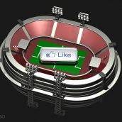 Facebook Like Button and Stadium