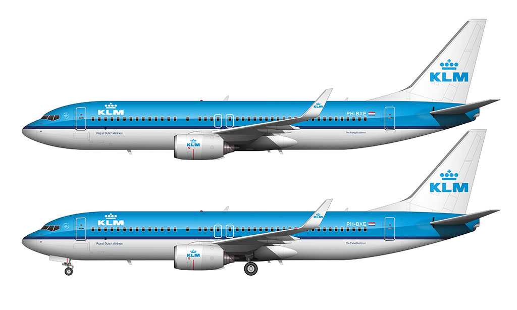 KLM livery on a Boeing 737-800