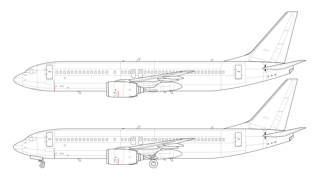 737-800 without winglets blueprint