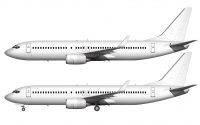 737-800 side view all white