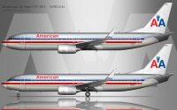 AA 737-800 drawing