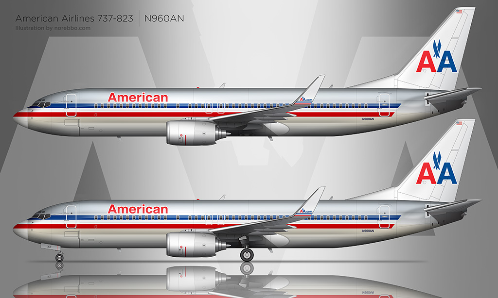 AA 737-800 drawing