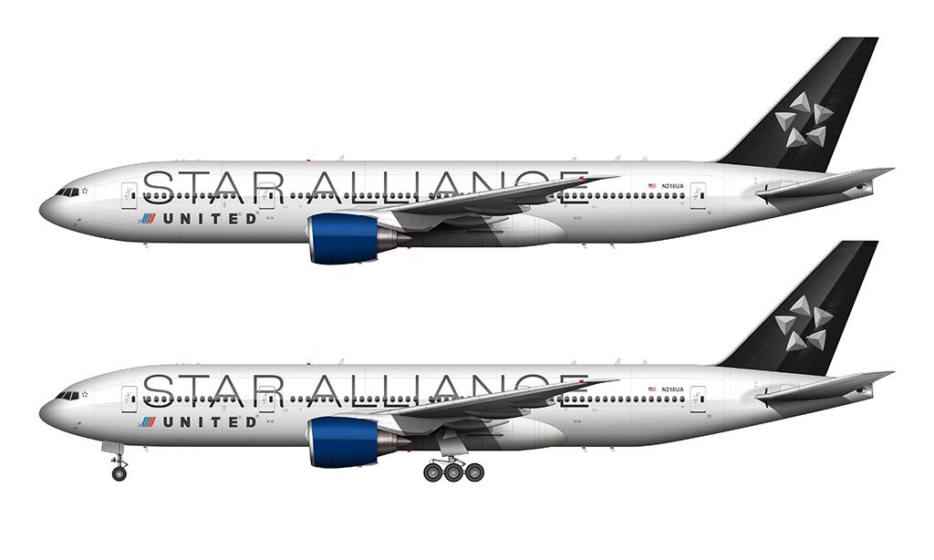 United Star Alliance 777-200 illustration