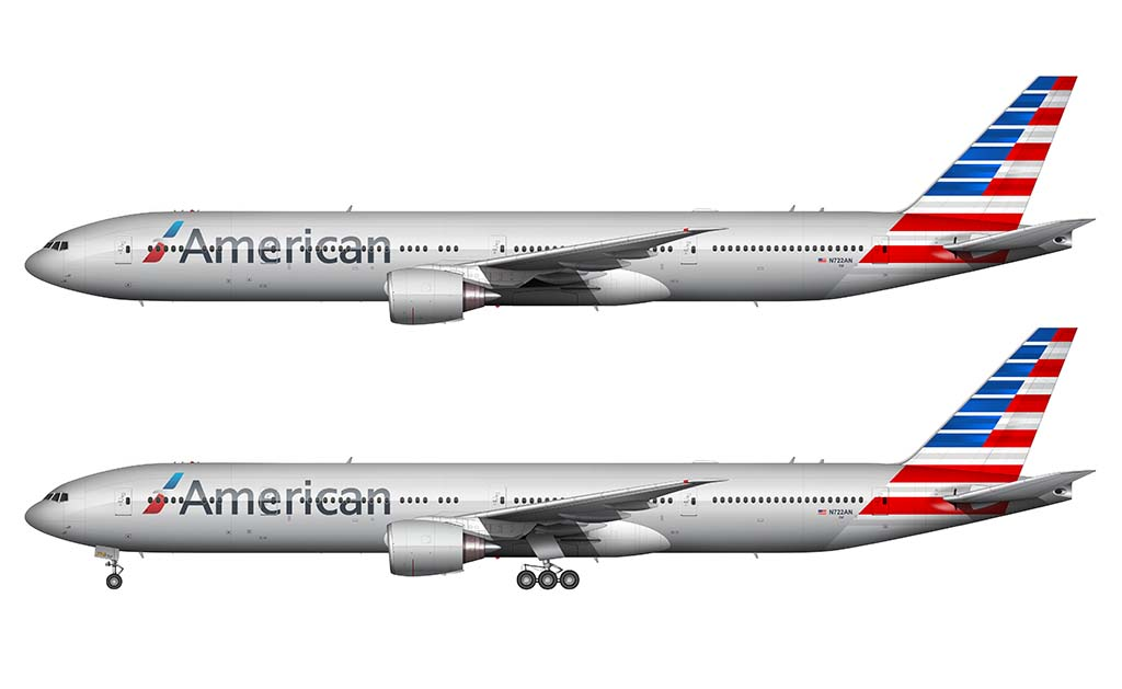 American Airlines livery 777-300ER