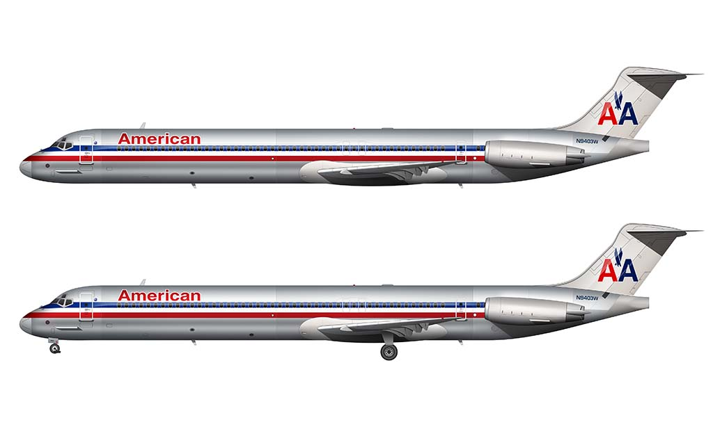 American Airlines livery MD-80