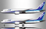 All Nippon Airways 787-8 experimental livery