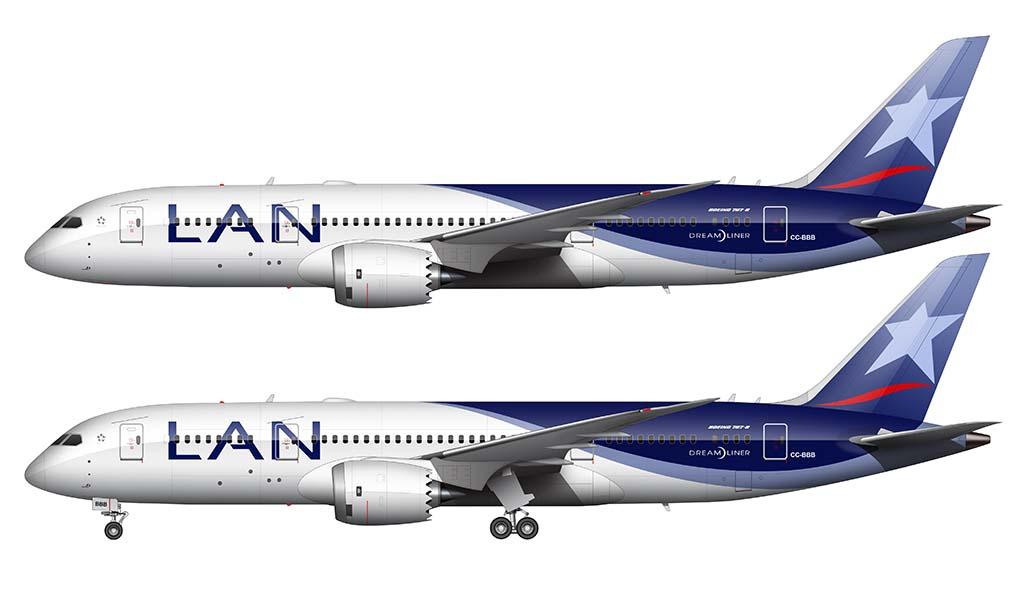 LAN Airlines Boeing 787-8 Illustration