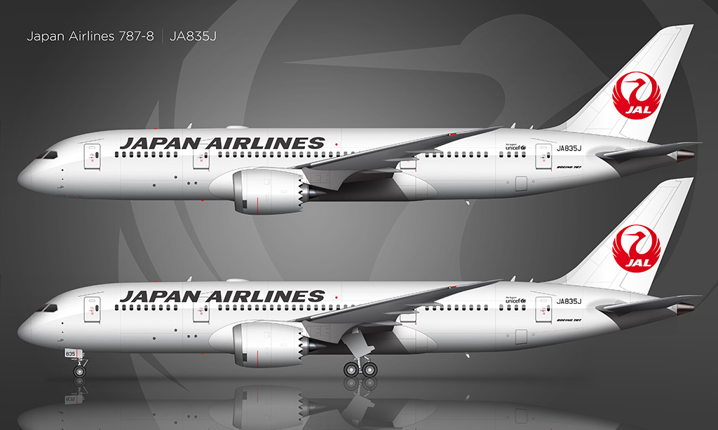 Japan Airlines Boeing 787-8 rendering