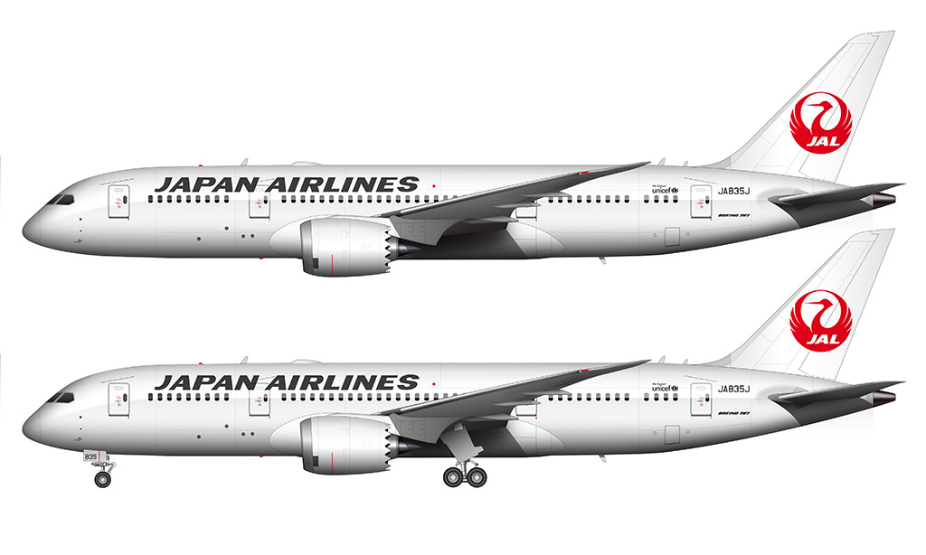 Japan Airlines 787-8 side view