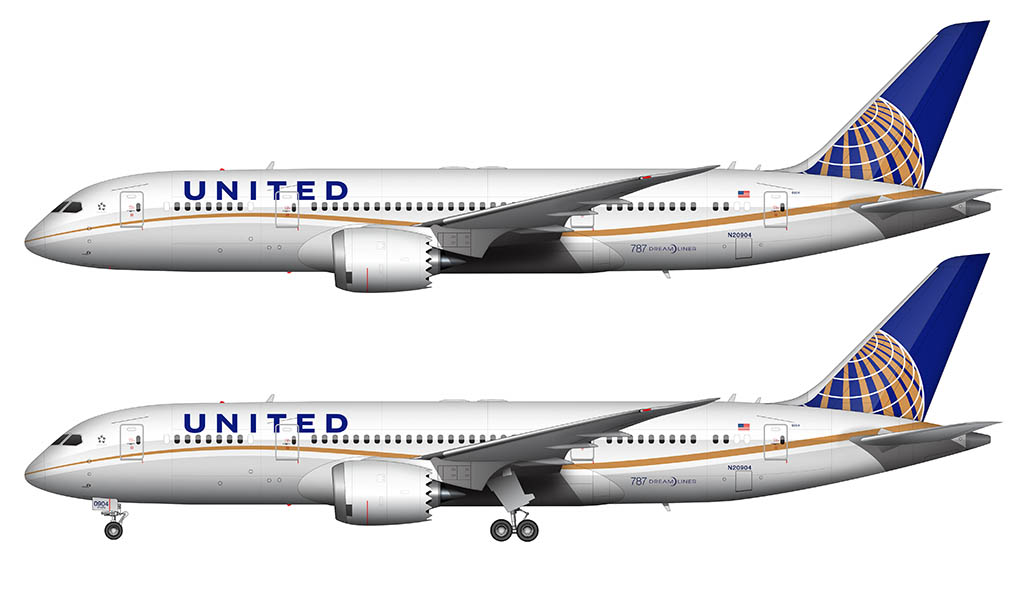 United 787-8 illustration